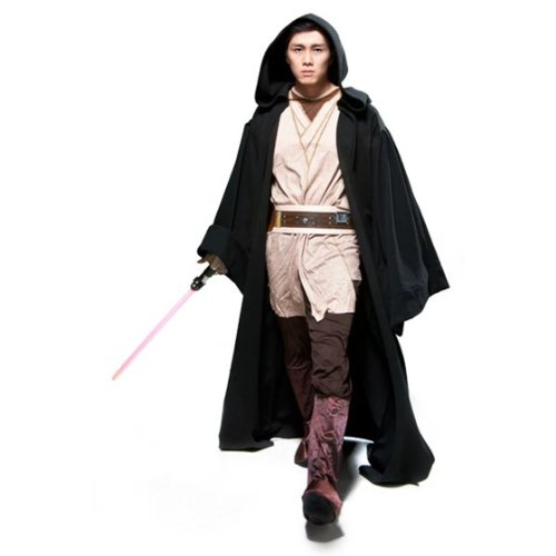 [Rubie's Costume Men's Star Wars Super Deluxe Adult Hooded Sith Robe, Multicolor, Standard] (Jedi Sith Costume)