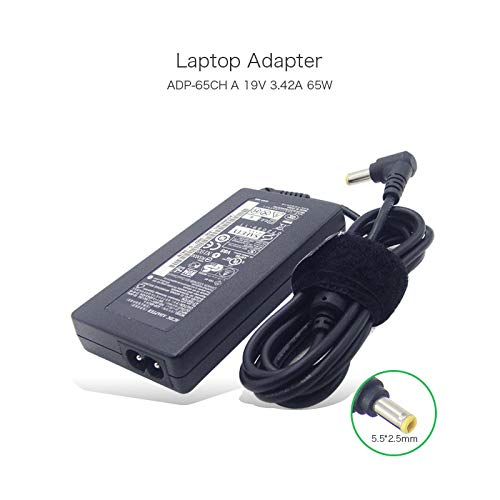 - Slim Laptop Power Adapter 65W 19V 3.42A 5.52.5mm ADP-65CHA Compatible with Lenovo IdeaPad G530 G430 G230 Series