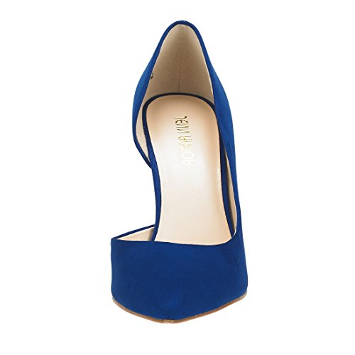 JENN ARDOR Stiletto High Heel Shoes for Women: Pointed, Closed Toe Classic Slip On Dress Pumps-Blue by JENN ARDOR (Image #5)