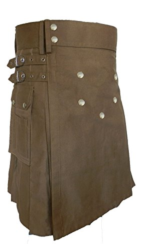 Men's Fashion Snap-on Kilt, Deluxe Utility Kilt, Traditional Scottish ()