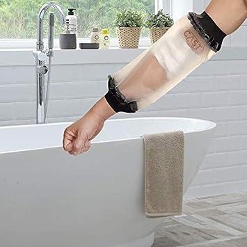 Lifeswonderful - Protector Impermeable Reutilizable para Cubrir el Yeso, Escayola o el Vendaje per Codo, Línea PICC, Catéter Central, Quimioterapia