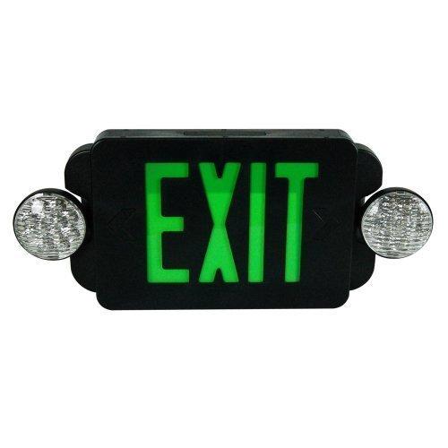 eTopLighting LED BLACK Exit Sign Emergency Light Combo with Battery Back-Up UL924 ETL listed, EL2BG-B-1 by eTopLighting (Image #3)