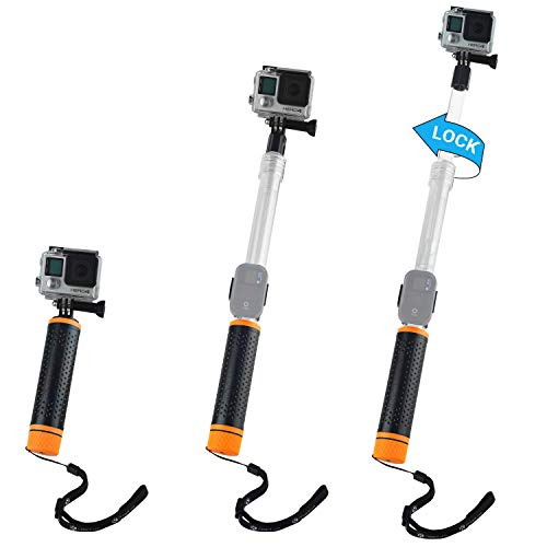 CamKix Waterproof Telescopic Pole Floating Hand Grip - Compatible with Gopro Hero 8 Black, Hero 7, 6, 5, Black, Session, Hero 4, Session, Black, Silver, Hero+ LCD and DJI Osmo Action