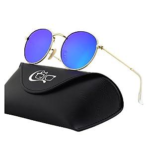 CGID E47 Retro Vintage Style Lennon Inspired Round Metal Circle Polarized Sunglasses