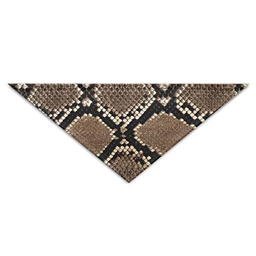 (OHMYCOLOR Special Snake Skin Print Tatto Dog Bandanas Scarves Triangle Bibs Scarfs Fashionable Basic Dogs Neckerchief Cat Collars Pet Costume Accessory Kerchief Holiday Birthday Gift)
