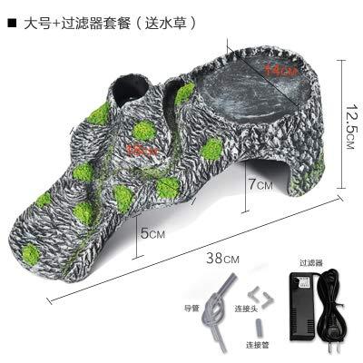 Large + filter JRTAN&Pet Turtle tortoise drying platform, back crawling, large + filter