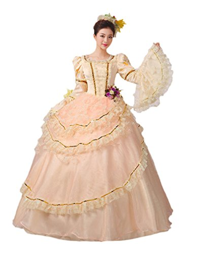 Versailles Adult Plus Costumes (Zukzi Women's Elegant Layered Lolita French Adult Princess Belle Costume US 2)