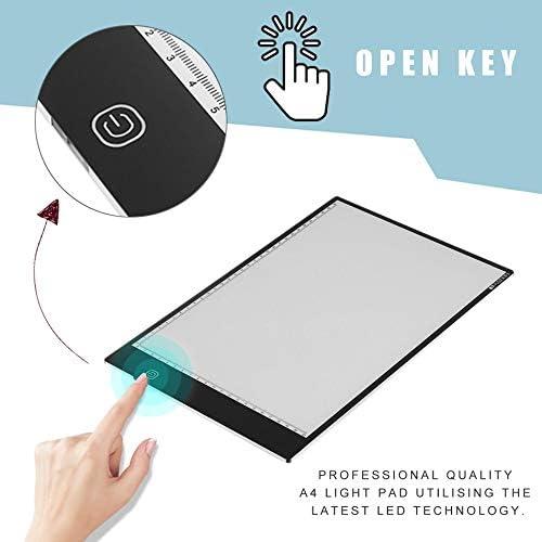 Silverfer Professionnel Ultra Mince A4 LED Art Craft Tra/çage Dessin Bo/îte /à lumi/ère Lampe Pad Board Board avec la derni/ère Technologie LED