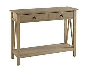 Great Linon Titian Rustic Gray Console Table
