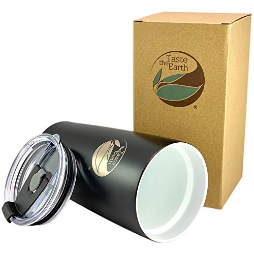 NEW Ceramic Coated Travel Mug – Gen2 20oz premium ceramic coated travel mug tumbler. THE ORIGINAL – with Taste Lock ceramic coating and pressure sealing lid/straw hole. By: Taste The Earth