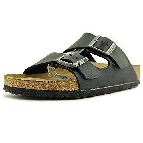 Birkenstock Unisex Arizona Black Oiled Leather Sandals - 10-10.5 2A(N) US Women/8-8.5 2A(N) US (Arizona Oiled Leather)