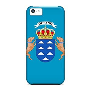 Fashion Protective Canary Isls Flag Case Cover For Iphone 5c