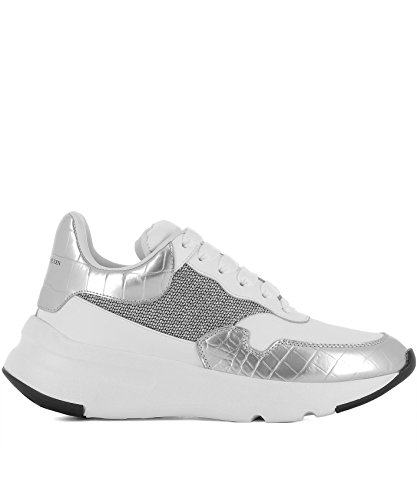 Alexander McQueen Women's 513537Whs838113 White Leather Sneakers