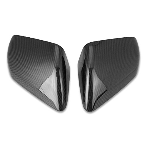 Gloss Black Carbon Fiber Side View Mirror Cover Overlays Fits 2015-2017 Ford Mustang (Mustang Mirror Covers)