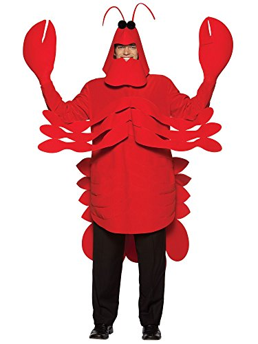 Rasta Imposta Lightweight Lobster Costume, Red, One Size