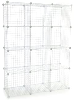 Amazon.com: Safco 5279BL Wire Cube Shelving System 15w x 15d x 15h ...