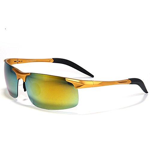 reflectante modo gafas gafas aluminio hombres impulsar Oro de oro de en UV400 TIANLIANG04 de lente Bastidor anti polarizadas magnesio sol reflexión capa de de la sol x1PXwEaq