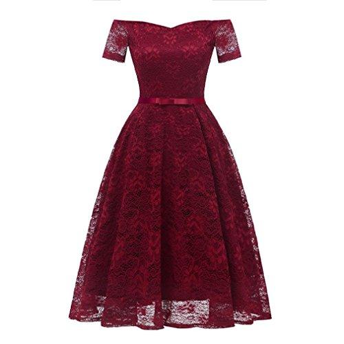 Women Dress, Vintage Floral Lace Off Shoulder Party Valentine's Day