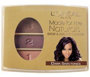 L'Oreal Made For Me Naturals Brow Shador & Duo EyeShadow 406 Dark Skin Tone