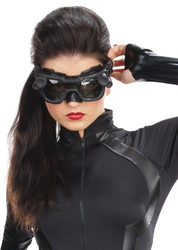 Rubie's DC Comic's Supervillian Catwoman Goggles Mask Halloween Costume Accessory ()