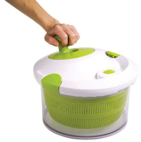 The Sharper Image All In One Salad Spinner With Chop Slice