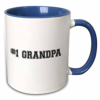 InspirationzStore Typography - #1 Grandpa - Number One Grandfather for worlds greatest and best grandpops - black text - Mugs