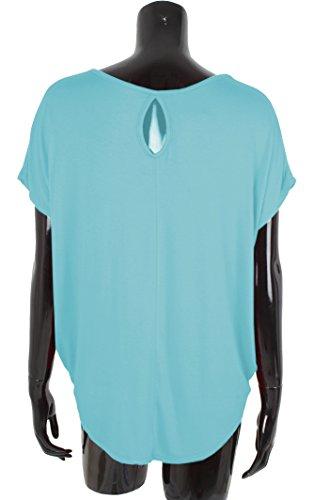 amp; Clair Giovanni Ouvert Shirt Emma Bleu Dos Femme CPvq7qxwR