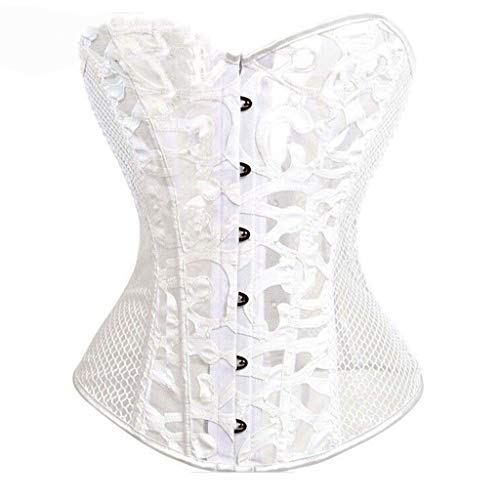 New Women Corset Spiral Steel Boned Lace up Sexy Bridal Underwear Women's Classic Lacing-up Corselet Sexy Bodyshaper XS