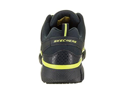 Skechers 77132 Mens Telfin Comp Toe Scarpe Da Lavoro Navy / Lime