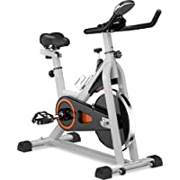 $149 » Sivaha Fixed Indoor Modern Cycling Bike, Smooth Exercise Bike with Drive, Oversized Soft seat Cushion and LCD Display