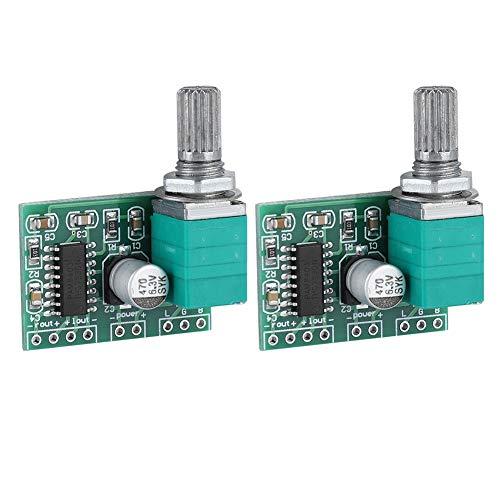 Digital Power Amplifier Board Module, PAM8403 2 3W Volumeregeling met Potentiemeter voor DIY Portable (2 stuks)