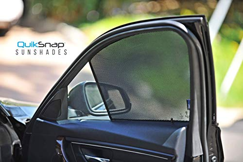 (QuikSnap sunshades - Custom Side Window sunshades (Set of 4) (Compatible BMW 5 Series 2011-2019))