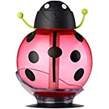 Portable USB Mini Beetle Ultrasonic Humidifier LED Night Light with Touch Sensor for Home Office Travel