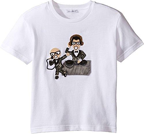 Dolce & Gabbana Kids Baby Boy's Designers Tee (Toddler/Little Kids) White Print T-Shirt by Dolce & Gabbana (Image #2)