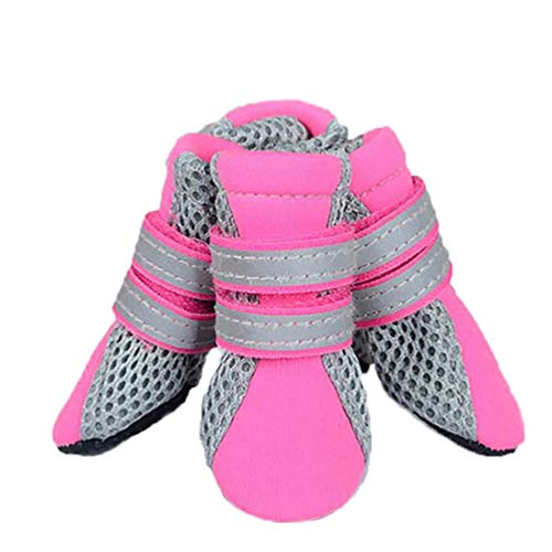 Jim Hugh Pet Dog Boots Cute Waterproof Protective Rubber Rain Shoes Comfortable for Small Dogs Shoes Pet Products