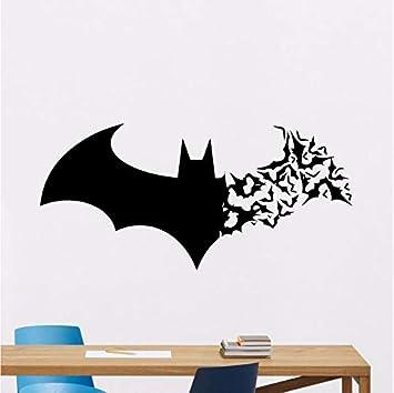 Zybnb Batman Wandtattoo Kinder Fledermaus Logo Superhero