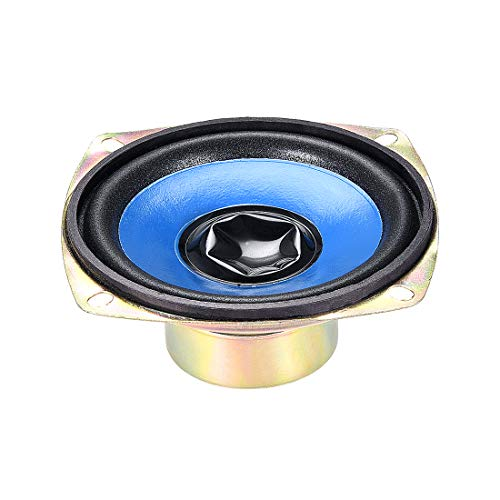 uxcell 5W 77mm Square Shape 4 Ohm DIY Speaker Replacement ()