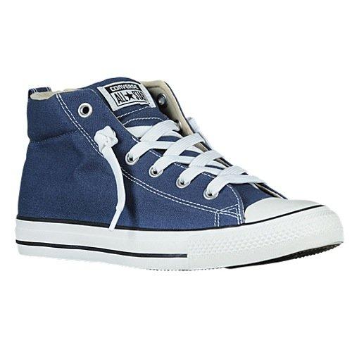 CONVERSE Unisex Chuck Taylor Street Mid Fashion Sneaker Shoe - Navy Natural - Mens - 8]()