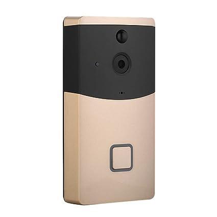 MRDEER Timbre de Video Inteligente 720P HD WiFi Timbre Inalámbrico con Cámara 166°Ángulo Amplio