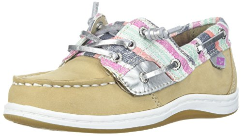 Sperry Girls' Songfish A/C Boat Shoe (Toddler/Little Kid),Sparkle,10 Medium US Toddler