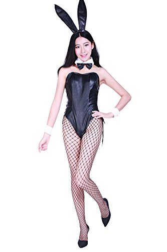 Casino specification fake leather bunny girl costume (SR36-1H) Men size L (japan (Leather Bunny Costume)