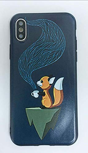 Kendall Silicone - Cute Fox iPhone Case for iPhone X iPhone Xs,Soft Silicone TPU Shock Absorption Bumper Protective Case for iPhone X iPhone Xs 5.8 inch