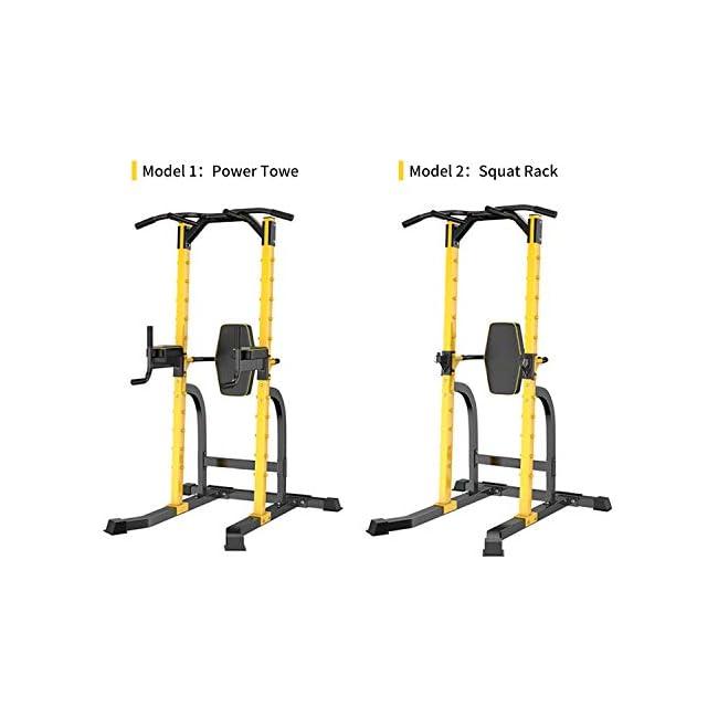 HYD-Parts Torre de energía de pie Barra de barbilla de cuerpo completo Estación de inmersión ajustable Fuerza Entrenamiento muscular Entrenamiento físico