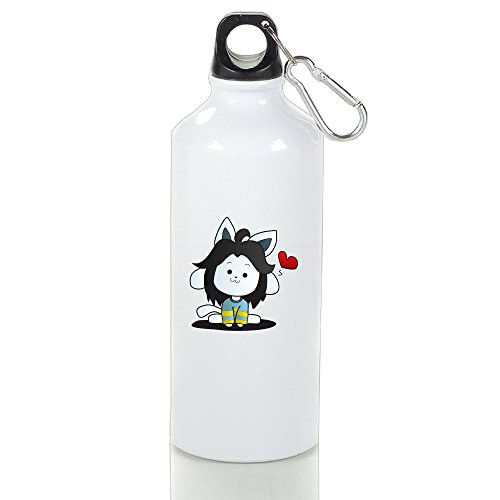 DW Undertale Stainless Steel Sports Drinking Bottle With Stopper And Carabineer Clip - Suitable For Gyms, Biking, Camping And Outdoor Sports - (Make Your Own Water Bottle Labels)