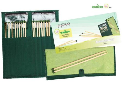 Knitter-s Pride Single Pointed Neelde Set, Bamboo 10'' / 25 cm by Knitter's Pride