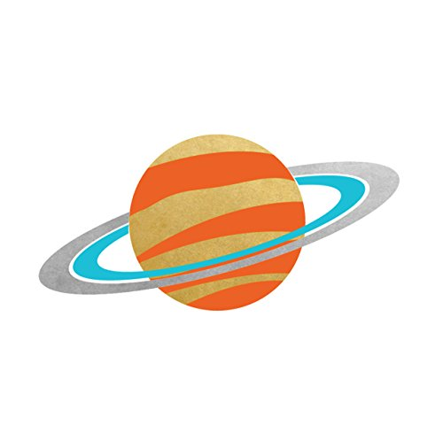 SPACE EXPLORER SATURN party tats set of 25