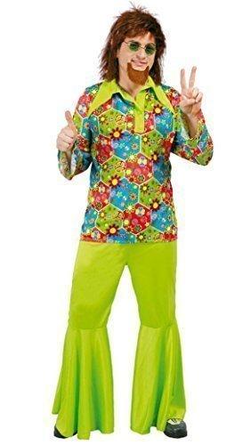 uk availability cbb06 dc688 uomo verde floreale anni 60 HIPPIE HIPPY A ZAMPA Costume ...