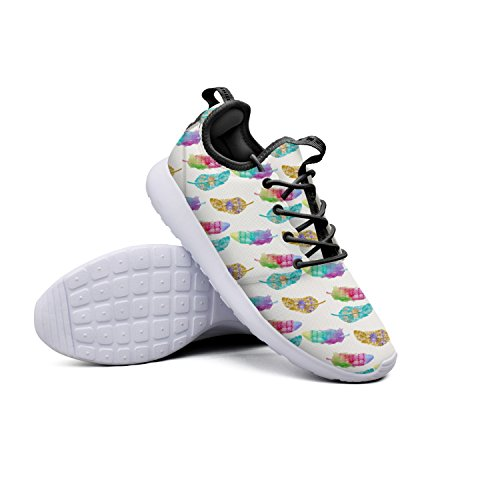 colorful feather pattern cool athletic