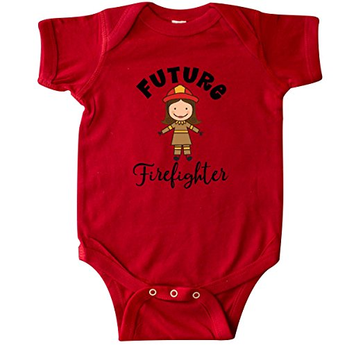inktastic - Future Firefighter Cute Girls Infant Creeper Newborn Red -