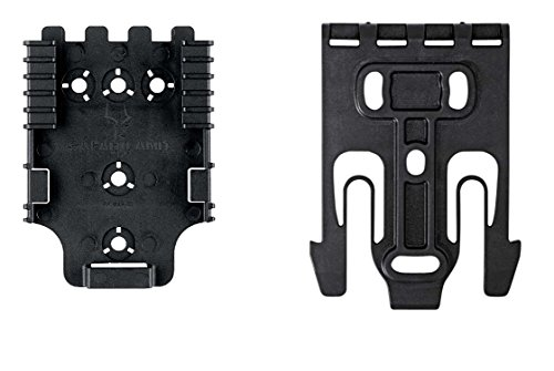 (Safariland SLQUICK-KIT1-2 Quick Locking System QLS Platform Kit 1 Male and 1 Female Quick Release Kit Black)